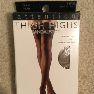 New sexy thigh high stocking nylons nude queen siz